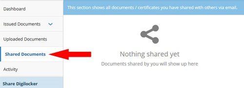 Share Documents DigiLocker